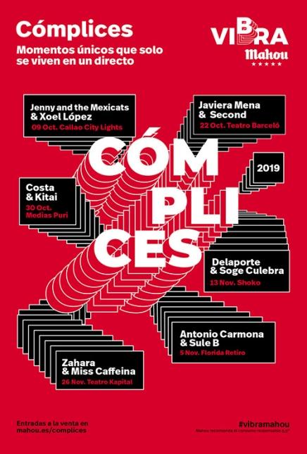 CARTEL CÓMPLICES DE VIBRA MAHOU 2019